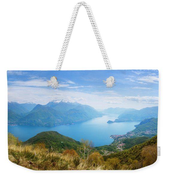 View From Rifugio Menaggio Lake Como Italy Weekender Tote Bag