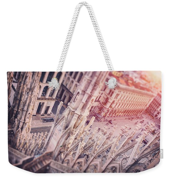 View From The Duomo Milan Italy  Weekender Tote Bag