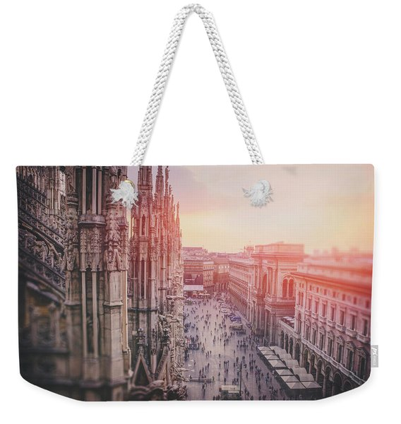 View From The Duomo Rooftop Milan Italy  Weekender Tote Bag