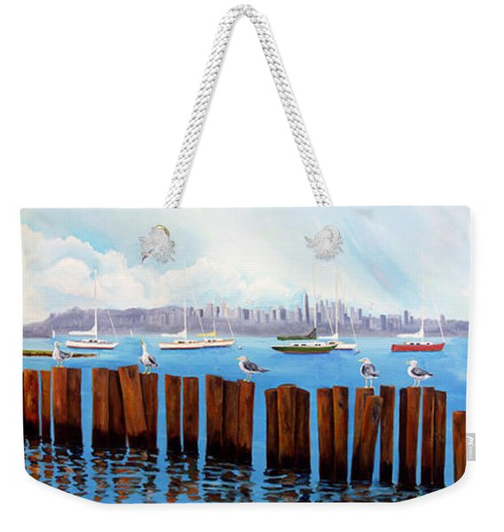 View From The Moshier's Tiki Bar Weekender Tote Bag