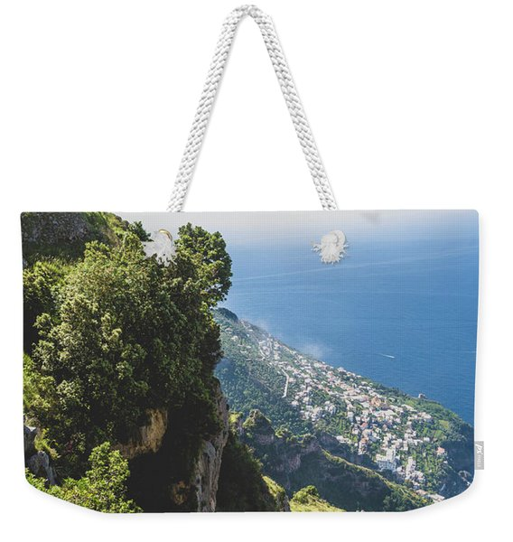 View Of Amalfi Italy From Path Of The Gods Weekender Tote Bag