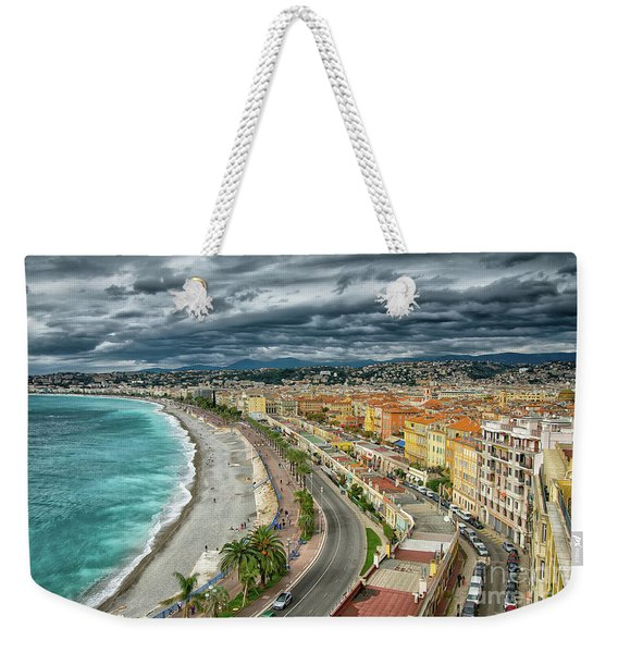 View Of Nice France From Castle Hill Weekender Tote Bag