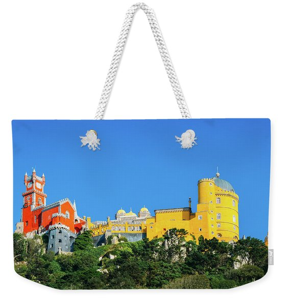 View Of Pena National Palace, Sintra, Portugal, Europe Weekender Tote Bag