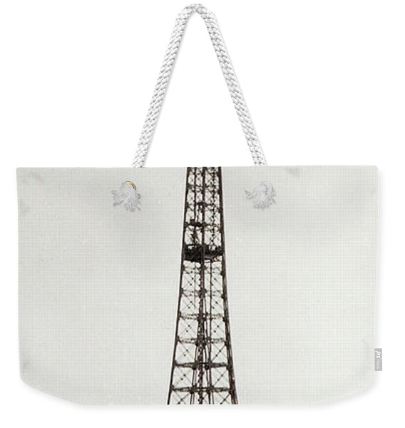 View Of The Construction Of The Eiffel Tower, Paris, 12th February And 12th March 1889 Weekender Tote Bag