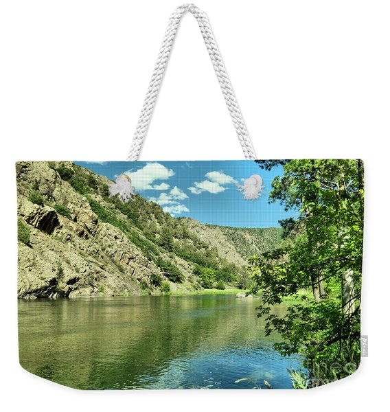 View Of The Gunnison River  Weekender Tote Bag