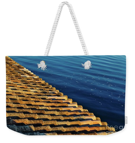 View Of The River From The Rooftop. Algarve Weekender Tote Bag