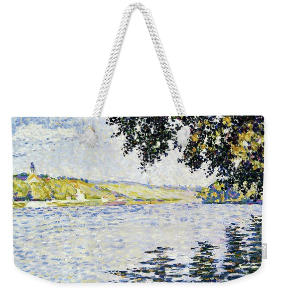 View Of The Seine At Herblay - Digital Remastered Edition Weekender Tote Bag