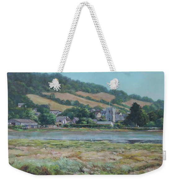 Village Of Axmouth On The River Axe Weekender Tote Bag