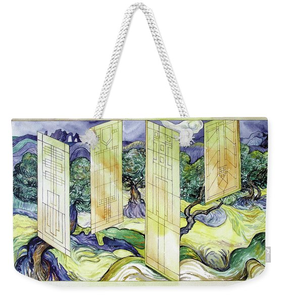 Vincent Meets Frank Weekender Tote Bag