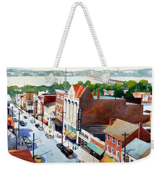 Vintage Color, Columbia Rooftops Weekender Tote Bag