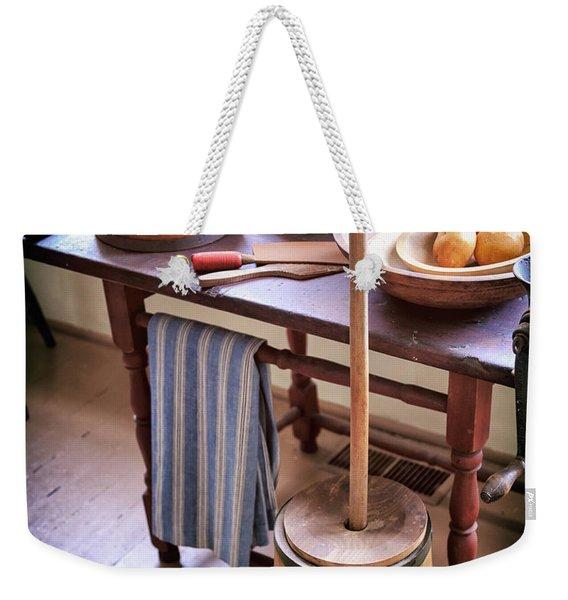 Vintage Farmhouse Butter Churn Weekender Tote Bag