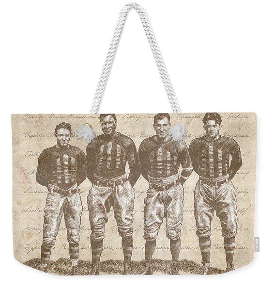 Vintage Football Heroes Weekender Tote Bag