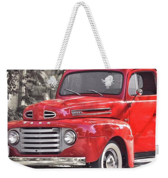 Weekender Tote Bag featuring the photograph Vintage Ford by JAMART Photography