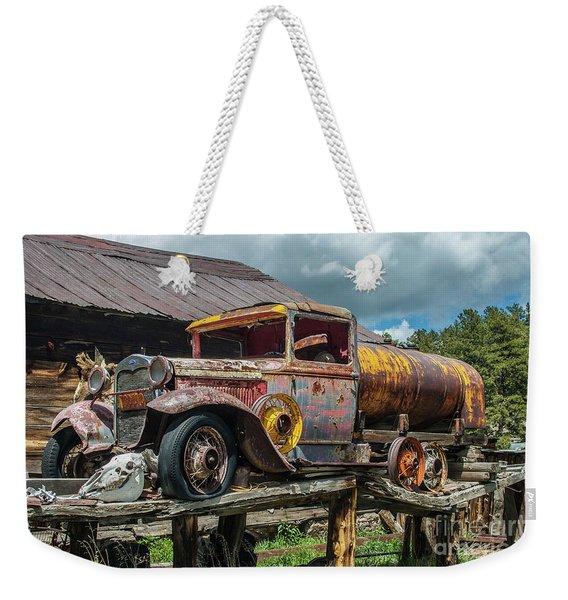 Vintage Ford Tanker Weekender Tote Bag