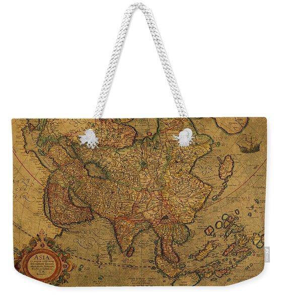 Vintage Map Of Asia 1620 Weekender Tote Bag