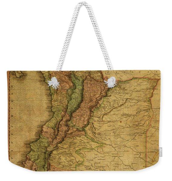 Vintage Map Of Columbia 1818 Weekender Tote Bag