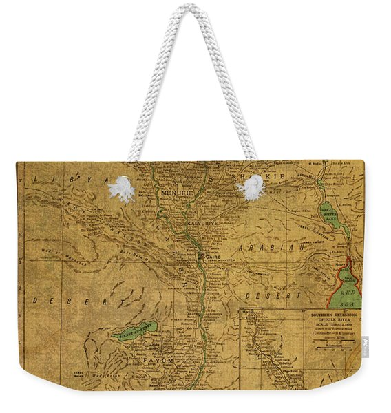 Vintage Map Of Egypt And The Nile River 1941 Weekender Tote Bag