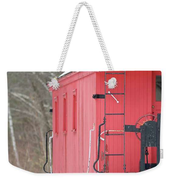 Vintage Red Caboose Potters Place Andover Nh Weekender Tote Bag