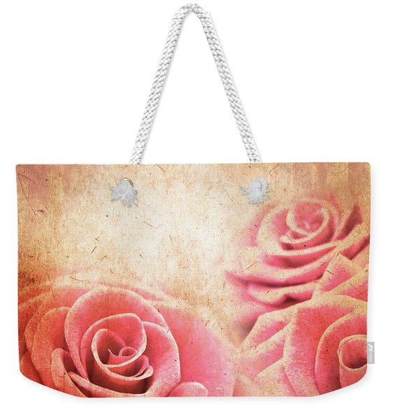 Vintage Roses Weekender Tote Bag