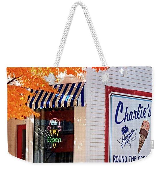 Vintage Small Town Usa Weekender Tote Bag
