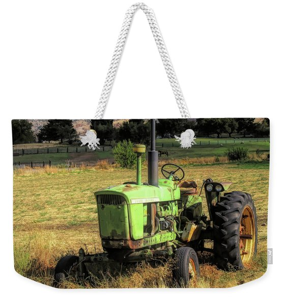 Vintage Tractor In Honeyville Weekender Tote Bag