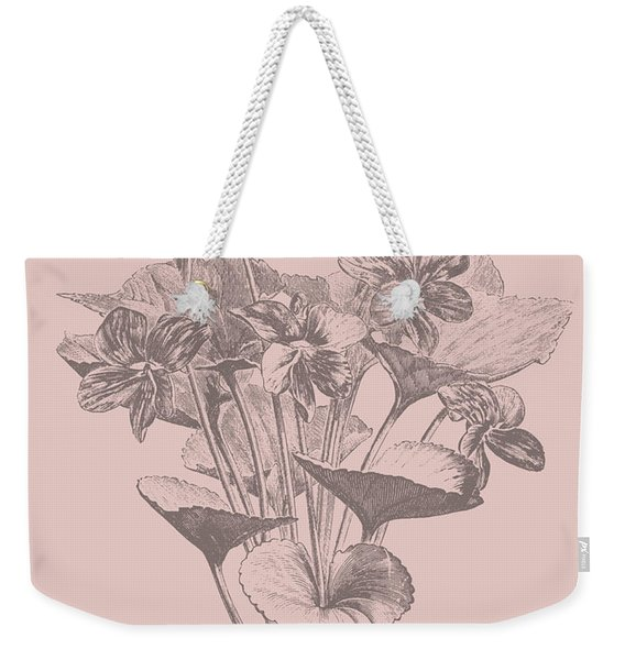Viola Cucullate Blush Pink Flower Weekender Tote Bag