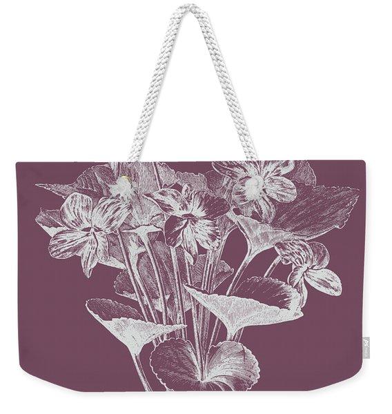 Viola Cucullate Purple Flower Weekender Tote Bag