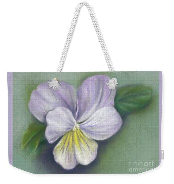Viola Purple And Yellow Weekender Tote Bag