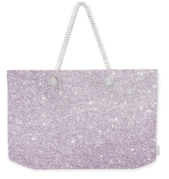 Violet Glitter Weekender Tote Bag