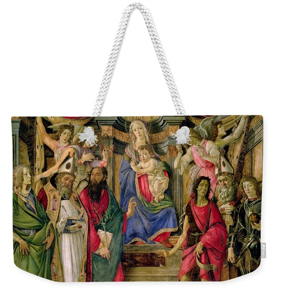Virgin And Child With Saints From The Altarpiece Of San Barnabas, Weekender Tote Bag