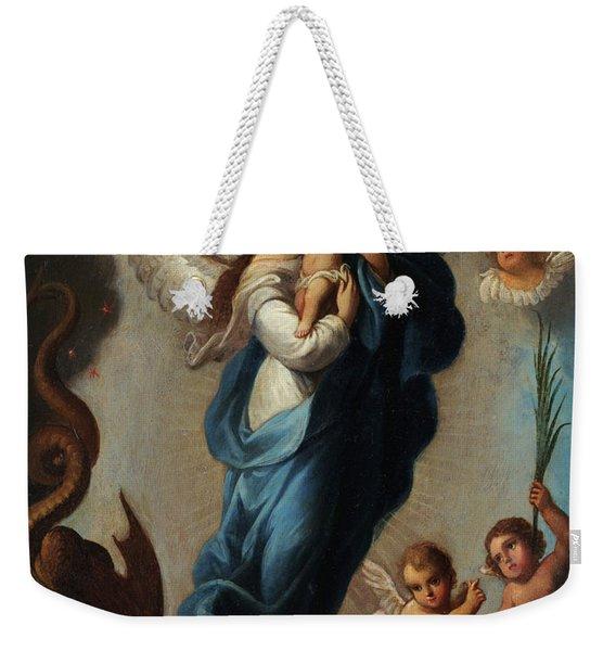 Virgin Of The Apocalypse Weekender Tote Bag