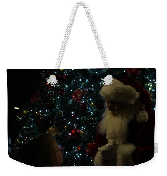 Visit With Santa Weekender Tote Bag