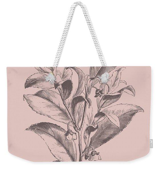Visnea Mocanera Blush Pink Flower Weekender Tote Bag