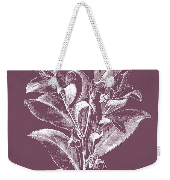 Visnea Mocanera Purple Flower Weekender Tote Bag