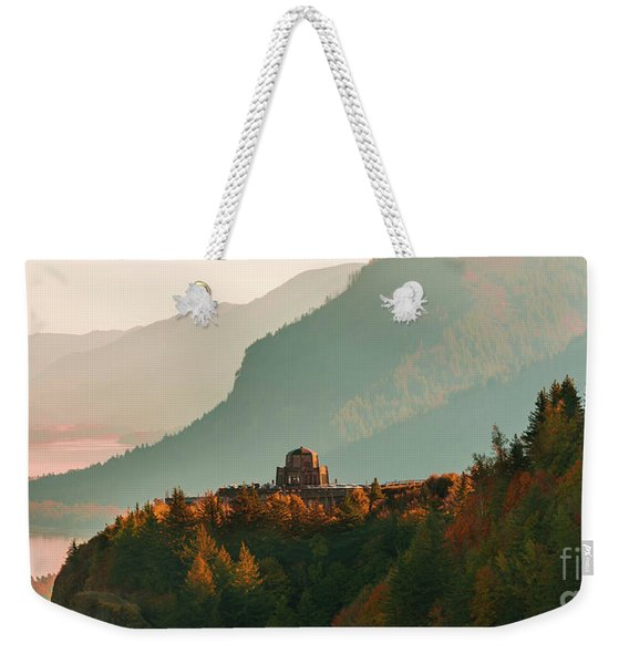 Weekender Tote Bag featuring the photograph Vista House by Dheeraj Mutha