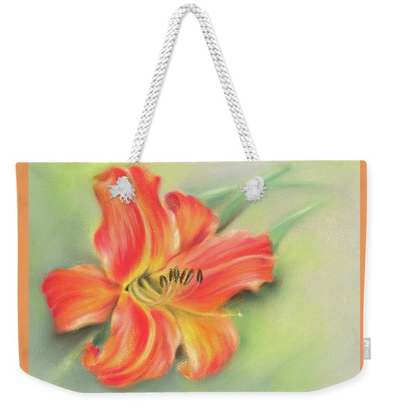 Vivid Orange Daylily Weekender Tote Bag