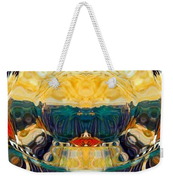 Weekender Tote Bag featuring the digital art Volcano 2.0 by A zakaria Mami