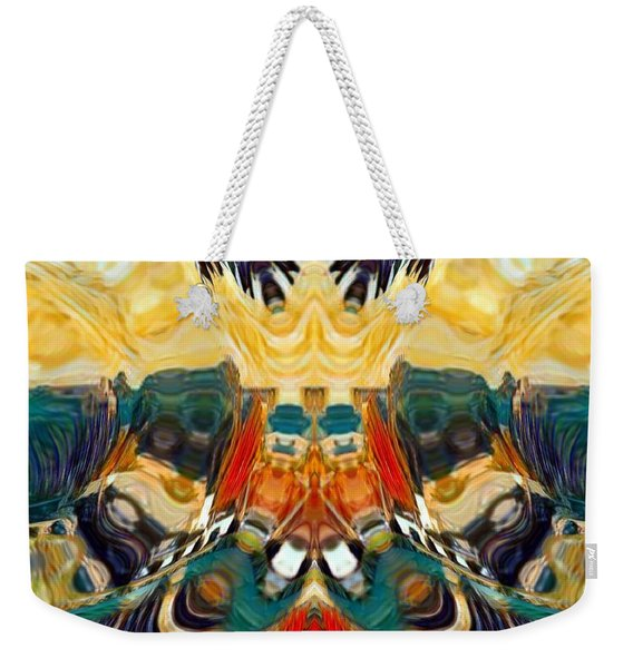 Weekender Tote Bag featuring the digital art Volcano by A zakaria Mami