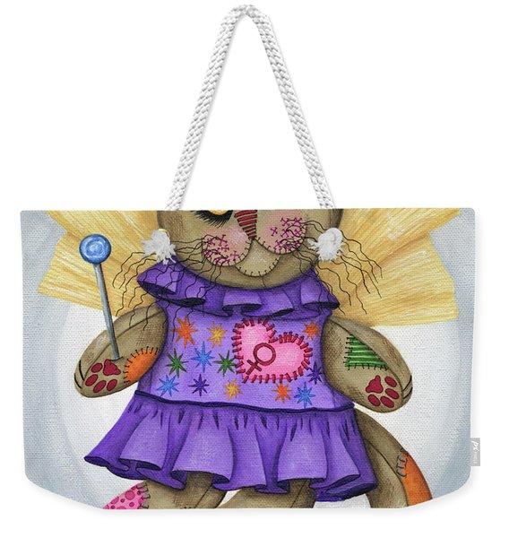 Voodoo Empress Fairy Cat Doll - Patchwork Cat Weekender Tote Bag