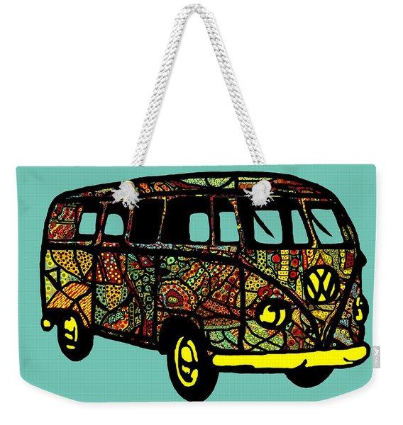 V W Bus - Hippie Volkswagen Camper Weekender Tote Bag