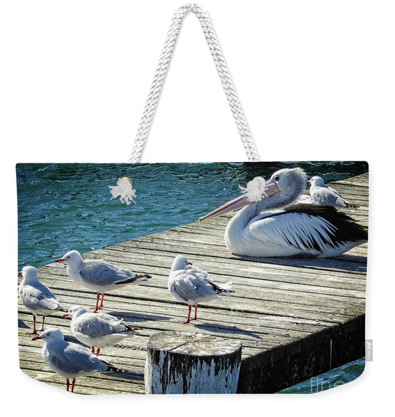 Waiting For A Feed Weekender Tote Bag