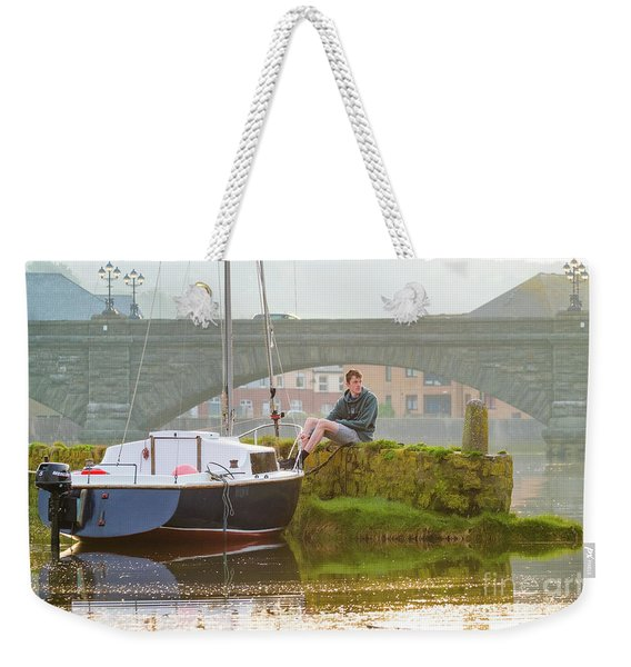 Waiting For The Tide..... Weekender Tote Bag