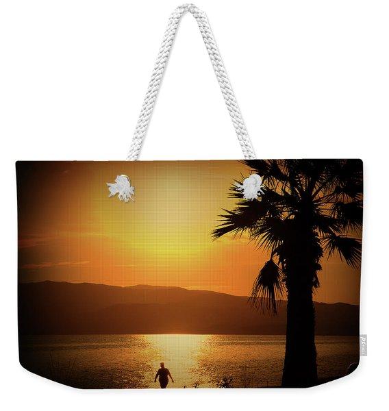 Walking Down The Beach Weekender Tote Bag