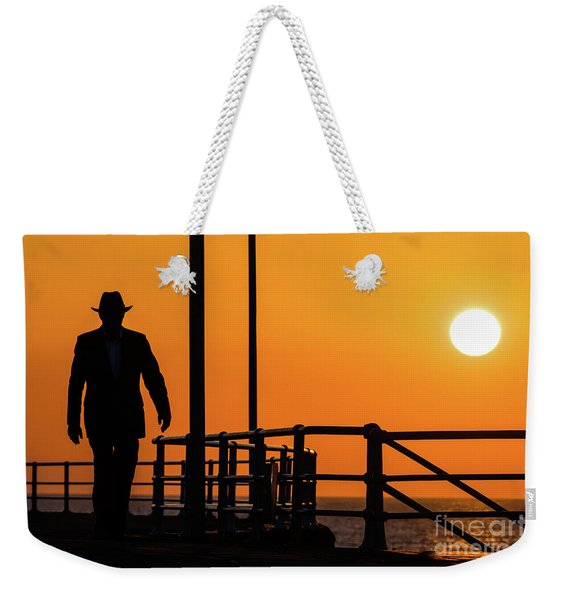 Walking Into The Sunset Weekender Tote Bag