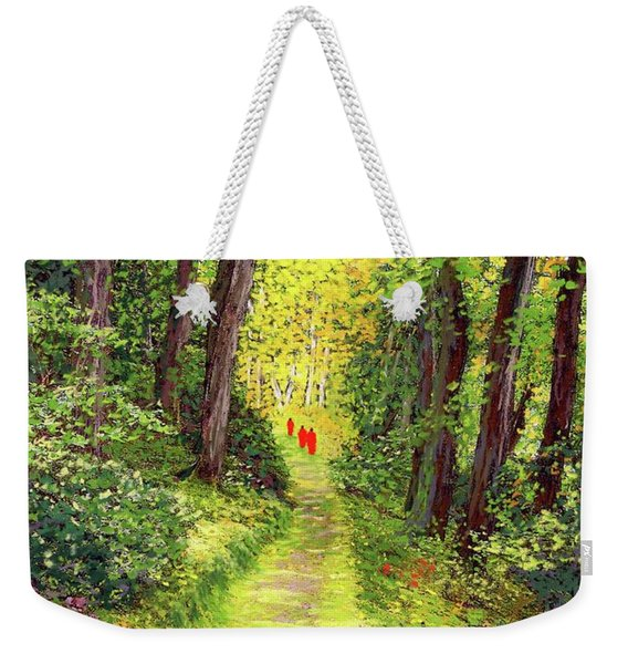 Walking Meditation Weekender Tote Bag