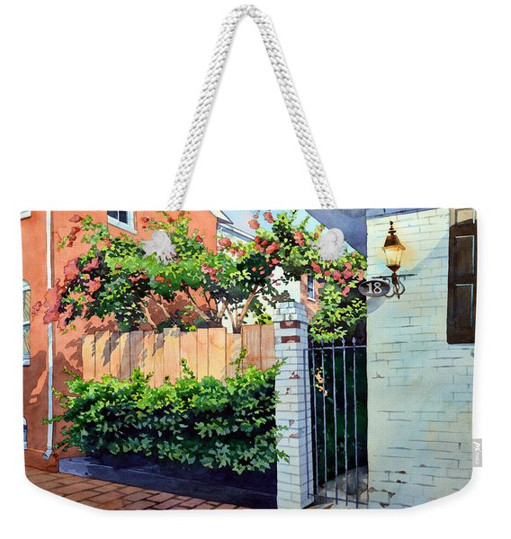 Walking On Jefferson Weekender Tote Bag