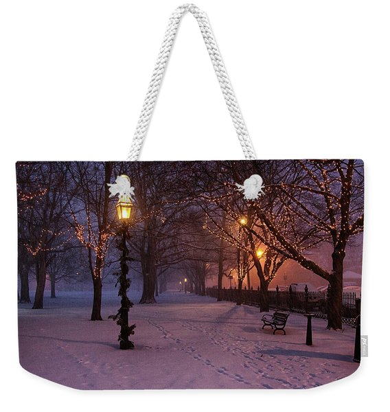 Walking The Path On Salem Ma Common Weekender Tote Bag