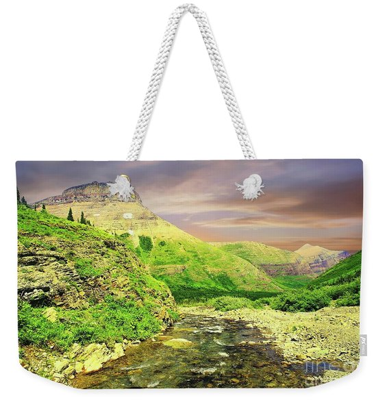 Walking The Swift Current River Weekender Tote Bag