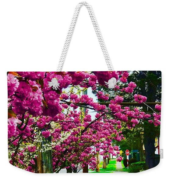 Walking Through Blossoms Weekender Tote Bag