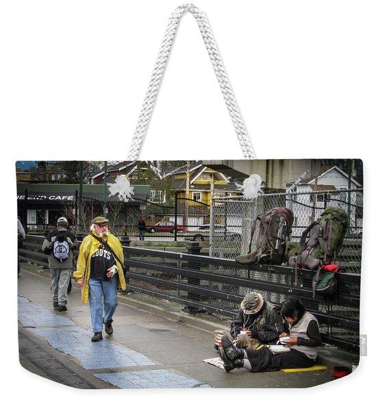 Walking-travellers Weekender Tote Bag